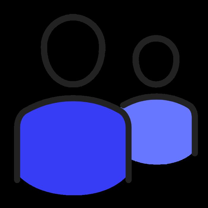 humains bleu sombre
